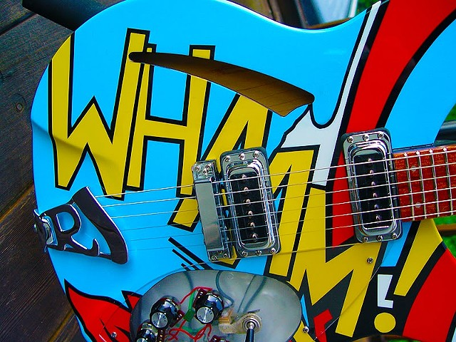 Rickenbacker 330 WHAAM! Paul Weller Replica--Detail of Finished Body Graphic