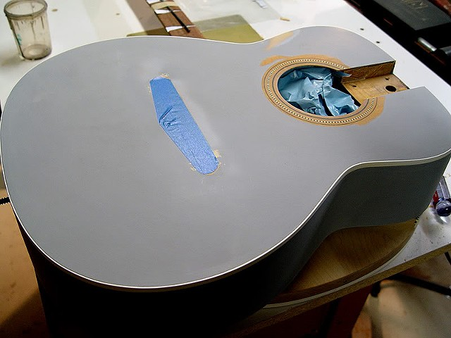 Fender 1968 Villager 12-String in Piano Black--Top of Body Glued into Place, Rebound, Primed, Being Leveled