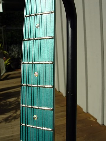 Fender Custom Long Scale Duo-Sonic with Active Electronics--Neck with Sherwood Green Finish, Abalone Inlay Dots