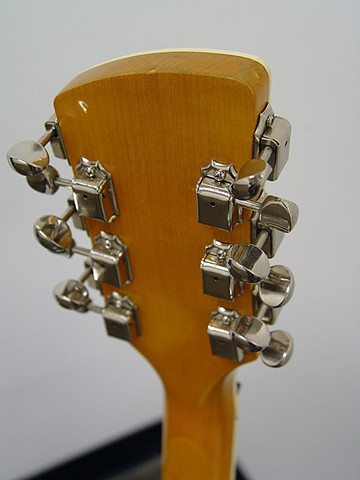 Charvel Surfcaster 12-String Restoration--Back of Headstock: Vintage Kluson Tuners