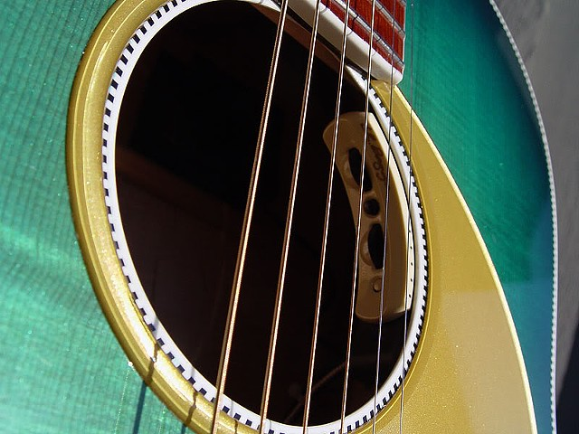 Soundhole, Showing LR Baggs iMix Pickup System Controls
