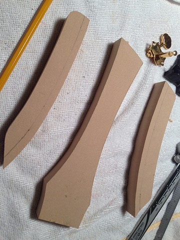 Headstock pieces sanded to proper contour