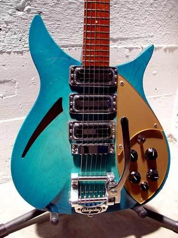 Rickenbacker 325 in Custom Aquaglo Burst Finish--Body Feature Again