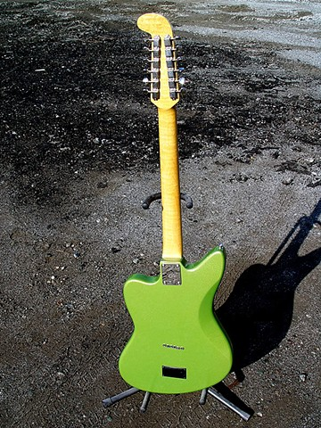 Fender Electric XII Custom Light Show in Prismatic Lime Green--Full-Length Back View