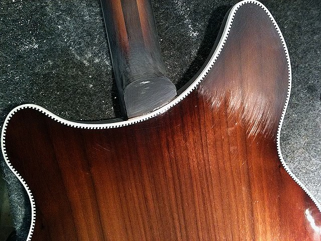 Rickenbacker 380L 12-String Conversion--Neck Heel Before Final Clear Coat