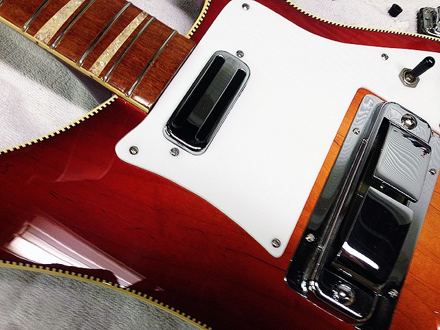 Rickenbacker '68 Vintage Fireglo 4001 Bass--Another View of Top