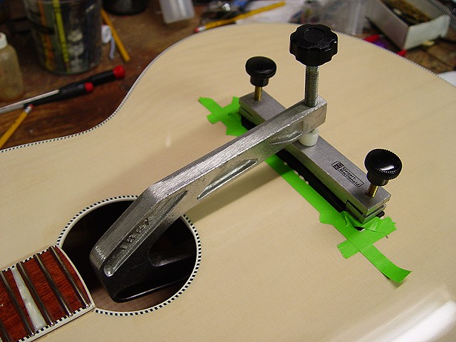 Rickenbacker 700C/12 Mary Kaye White/Wineburst--Gluing Bridge in Place After Painting and Buffing
