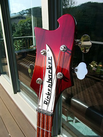Magical Mystery Tour Rickenbacker Bass--Headstock Detail--Finished Bass