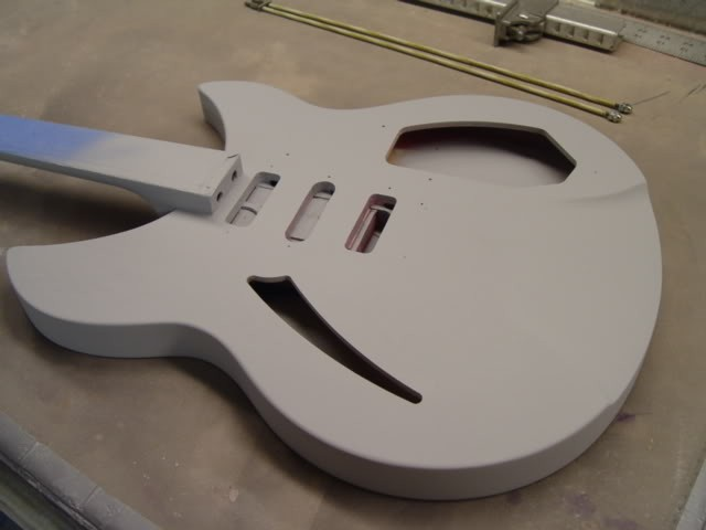 Rickenbacker 340 Classic Union Jack Refinish--Primer and Sealer Applied, Ready for Base Coat White