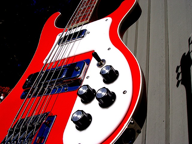 Rickenbacker 4003 Bass--5 String Conversion--Close Up Showing Kahler Bridge Installed