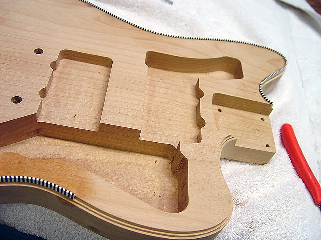 Fender Custom Jazzmaster with Binding and Transparent Cherry Shaded Finish--Purfling Nearly Completed!