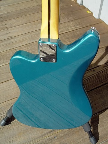"Fender Custom Jaguar ""Light Show"" Guitar--Reflections in Back of Guitar"