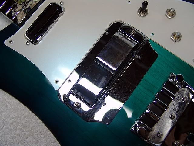 "Rickenbacker 4000 ""AquaBass""--Detail of Top"