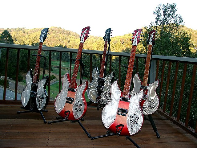 Rickenbacker Light Show Solid State Conversions--2 Original and 3 Solid State Light Shows on Deck!