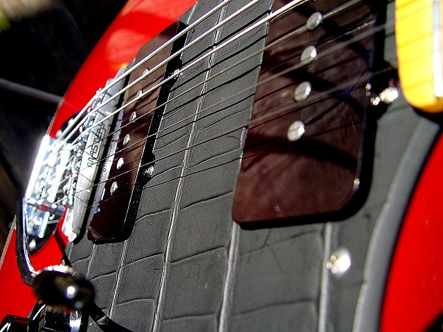 NEW Fender Jazzmaster Build--Bound with Transparent Cherry Finish--Detail of Pickups