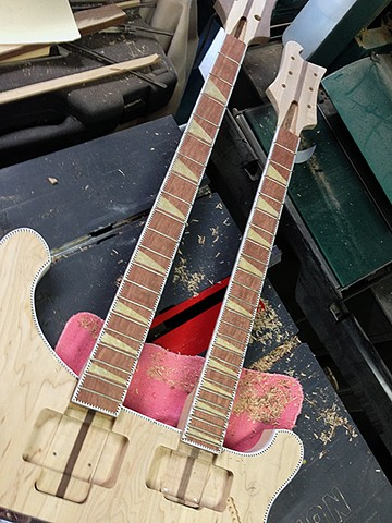 Rickenbacker 4080/6 for Al Cisneros of Sleep and Om--Necks Fitted into Their Rabbets