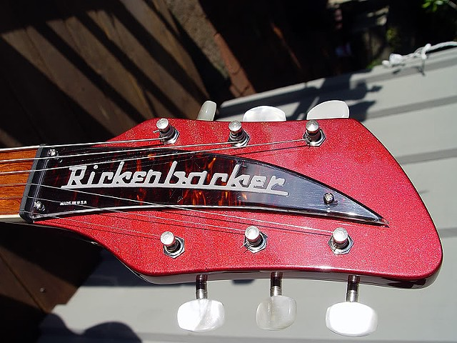 "Rickenbacker ""Selvagem"" Custom 381--Headstock with Tortoise Shell Name Plate"