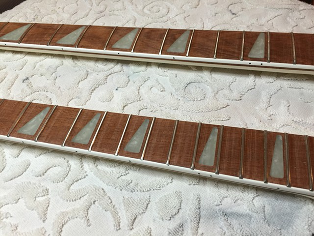 ORIGINAL FRETBOARDS READY FOR FINAL CLEAR COAT VARNISH