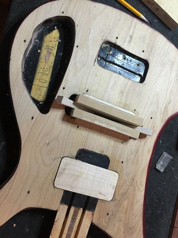 BRIDGE PICKUP ROUTE FILLED PRIOR TO RESHAPING