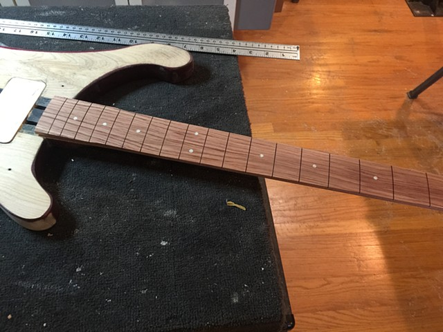 NEW FRETBOARD IS MADE AND FITTED