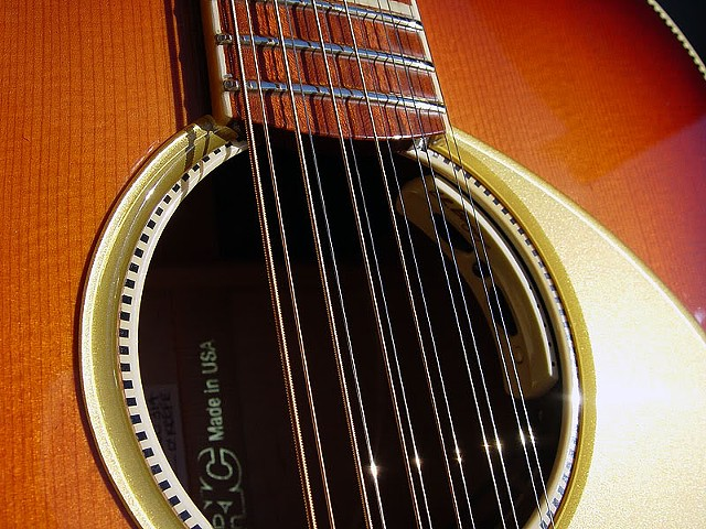 Sound Hole Close Up with Pickup Controls