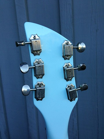 Rickenbacker 330 Custom Double-Bound 21-Fret Conversion--Back Side of Headstock Showing Vintage Style Tuners