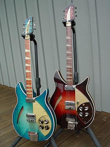 "Rickenbacker 1960 Capri ""Isle of Capri""--A Pair of Custom 1960 Capris--Teal and Autumnglo"