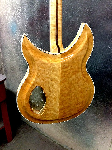 Rickenbacker 381 Custom--Back With First Sealer Coats