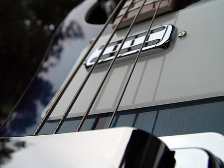 Aquaglo Rickenbacker 4001 Bass--Neck Toaster Pickup Detail