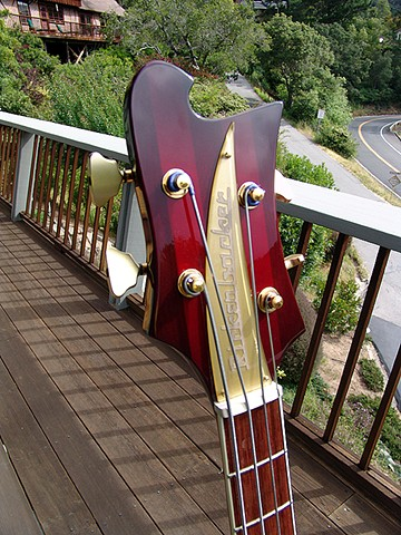 Rickenbacker 7001 Jumbo Acoustic Bass--Headstock Detail