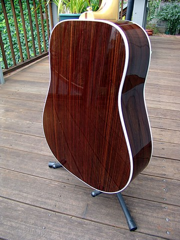 Back of Rosewood Body