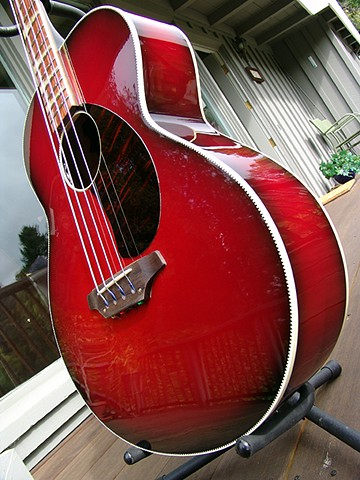 Rickenbacker 7001 Jumbo Acoustic Bass--Low-Angle Detail