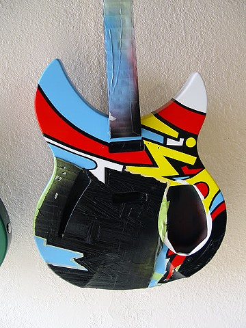 Rickenbacker 330 WHAAM! Paul Weller Replica--Removing Masking After Last Color (Black) Has Dried