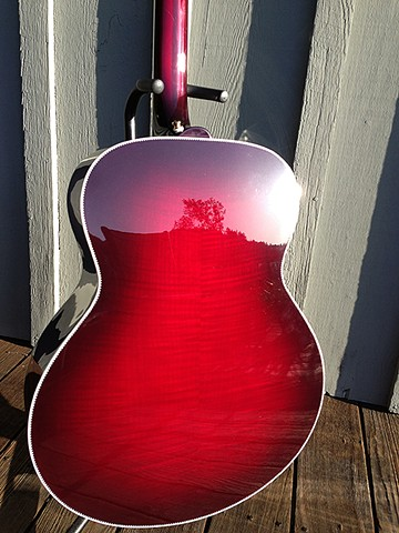 Rickenbacker 700C/12 Mary Kaye White/Wineburst--Reflection in AAAAA Shaded Maple Back