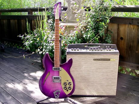 Rickenbacker 330 in Custom Purple Burst--Finished Guitar with 1966 Ampeg M-10 Amplifier