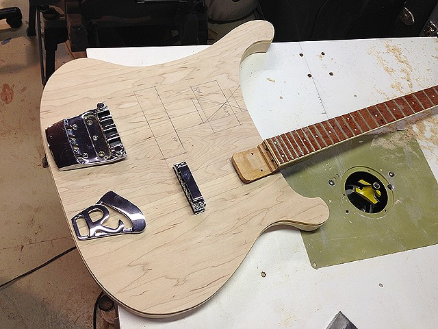 Rickenbacker 4080/6 for Al Cisneros of Sleep and Om--Laying Out the Routs for Necks and Hardware