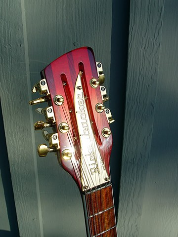 Headstock with New Gold Rickenbacker Nameplate