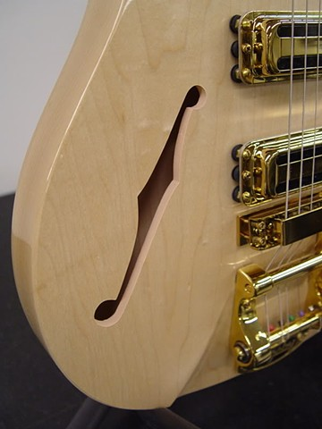 "Rickenbacker 350 With Gold-Plated Hardware and Gold Guards--""F"" Hole Added Without Disturbing Factory Mapleglo Finish"