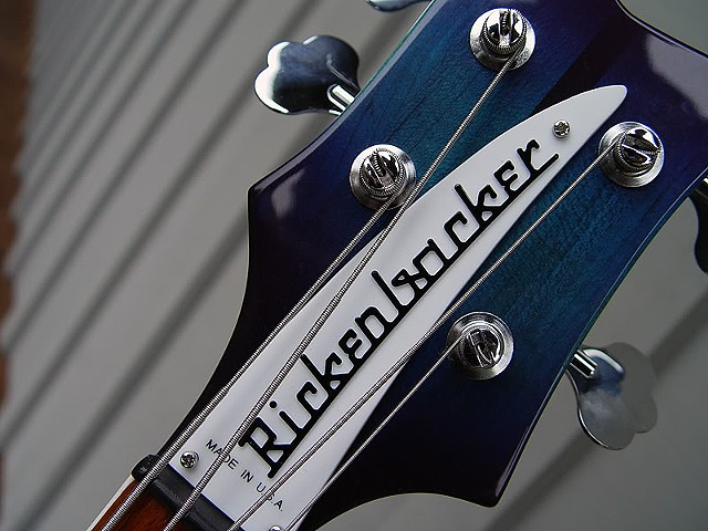 Aquaglo Rickenbacker 4001 Bass--Headstock and Name Plate