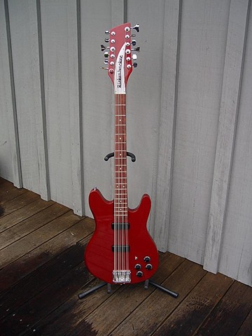 "Rickenbacker--Ruby Custom 12-String 2030 Bass with 30"" Scale--Full-Length Portrait"