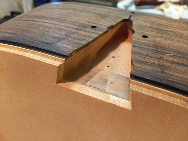 TAPERED DOVETAIL ROUTED FOR NECK