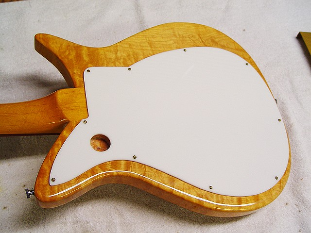 Rickenbacker '57 Combo 1000 Left-Handed Conversion--Back of Body Showing Saxophone Strap Clip and Back Finish Guard