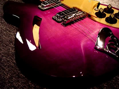 Rickenbacker 330 in Custom Purple Burst--Detail of Finished Body