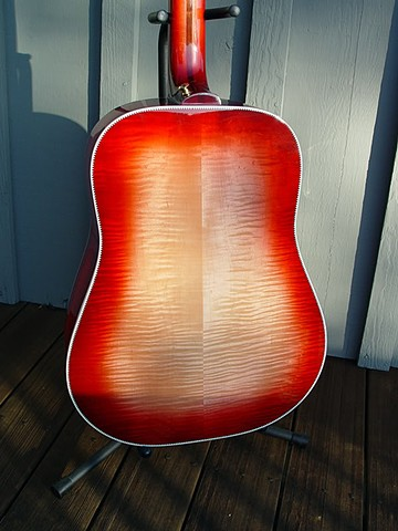 Eye-Catching Fireglo on AAAAA Maple Back