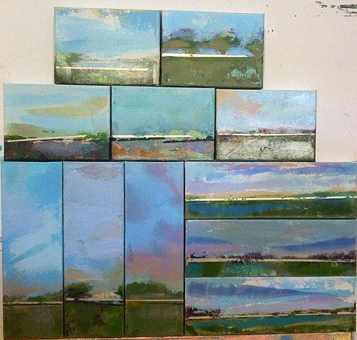 Assorted mini Louisiana inspired landscapes