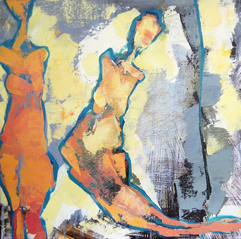 abstract figurative female forms
