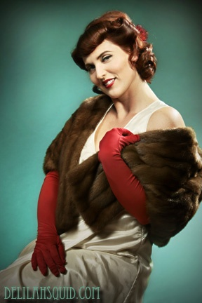 Pin Up Photography Victoria British Columbia Vancouver Island portrait pinup boudoir glamour cheesecake Delilah Squid Photography