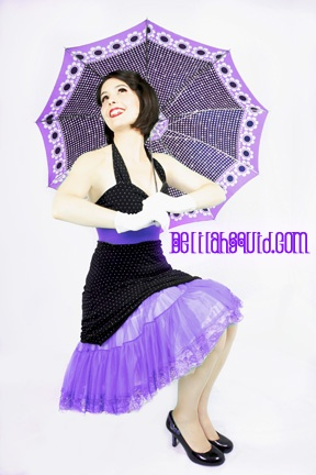 Pin Up Photography Victoria British Columbia Vancouver Island umbrella boudoir crinoline portrait pinup glamour cheesecake Delilah Squid Photography