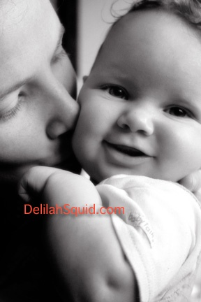 baby babies kiss mother love black and white photography portrait Delilah Squid Photography Victoria British Columbia Vancouver Island