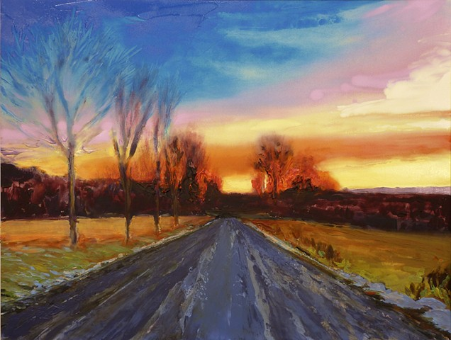 painterly abstract landscape hartley marin dove sunset color